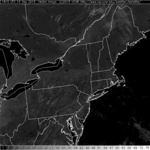 This is about as clear of a visible satellite image that you will find here in the north east. High Pressure, Dry air and abundant sunshine is the rule.
